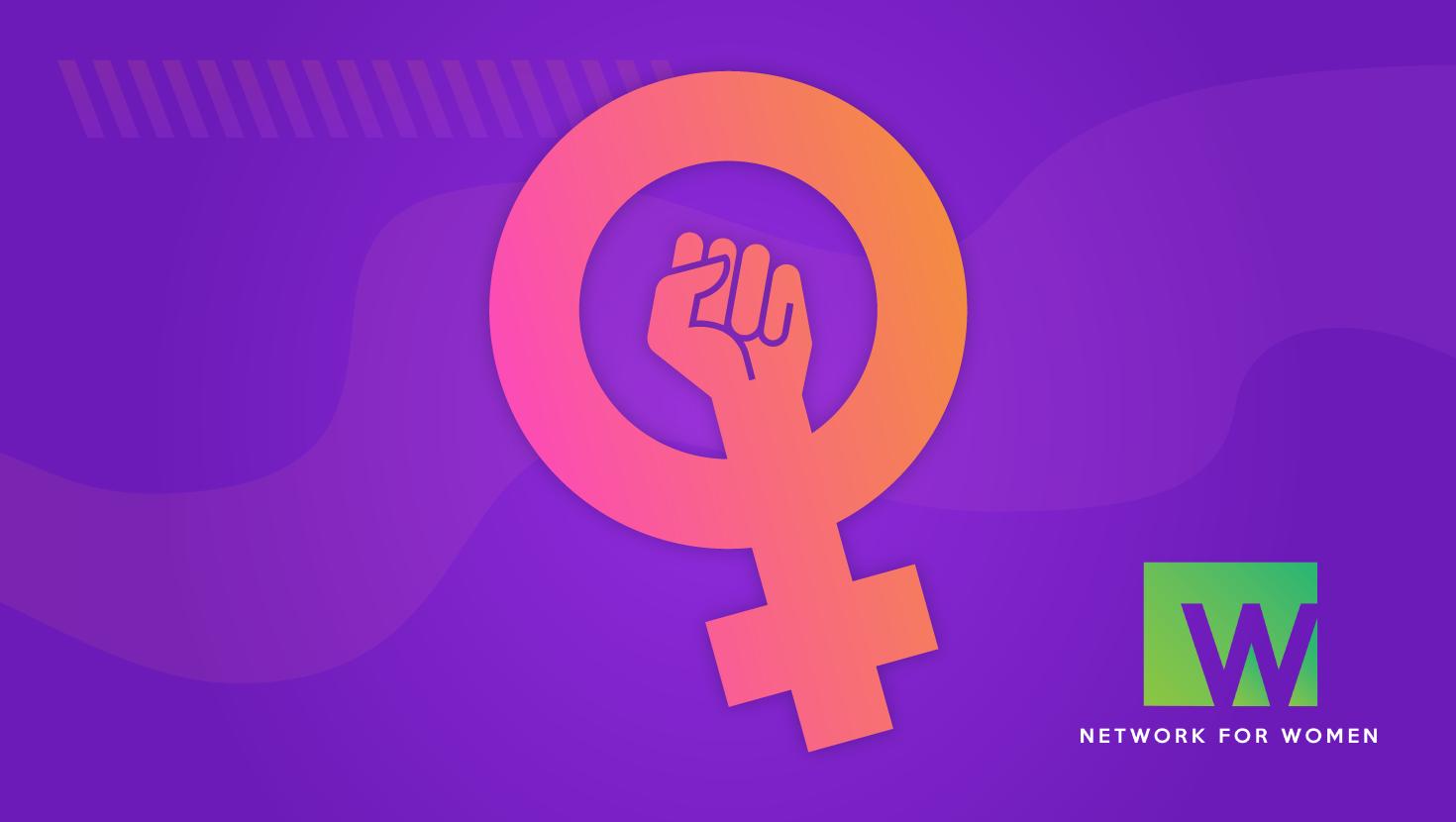 Feminist symbol with the N4W logo