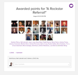 Achievers Referral Platform Snapshot