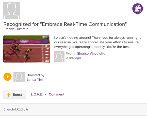 ASPIRE recognition for embrace real-time communication