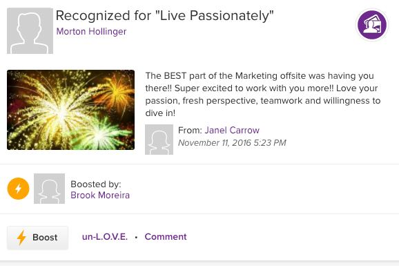 ASPIRE recognition for live passionately