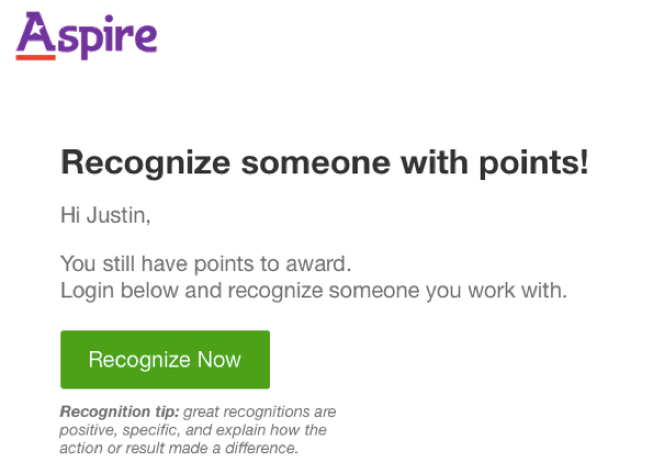 Recognition Notification