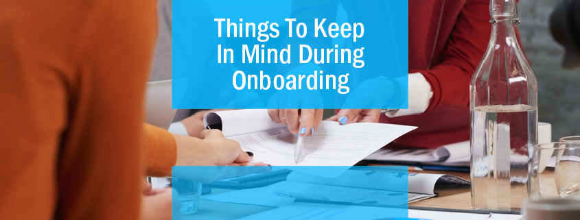 Things to Keep In Mind During Onboarding