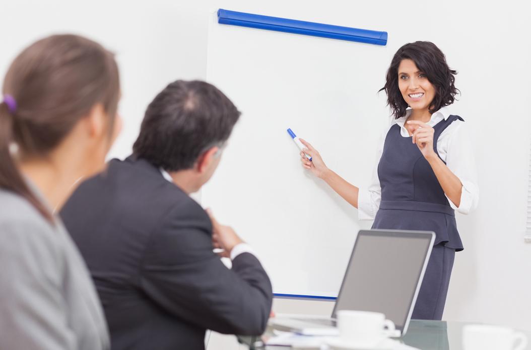 employee presenting