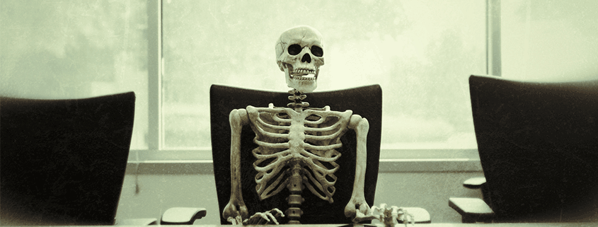 skeleton in office