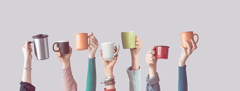 leadership and colorful cups