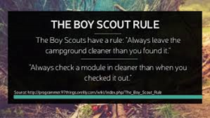 They follow the Scout rule