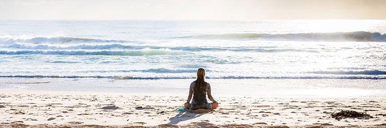 practicing meditation