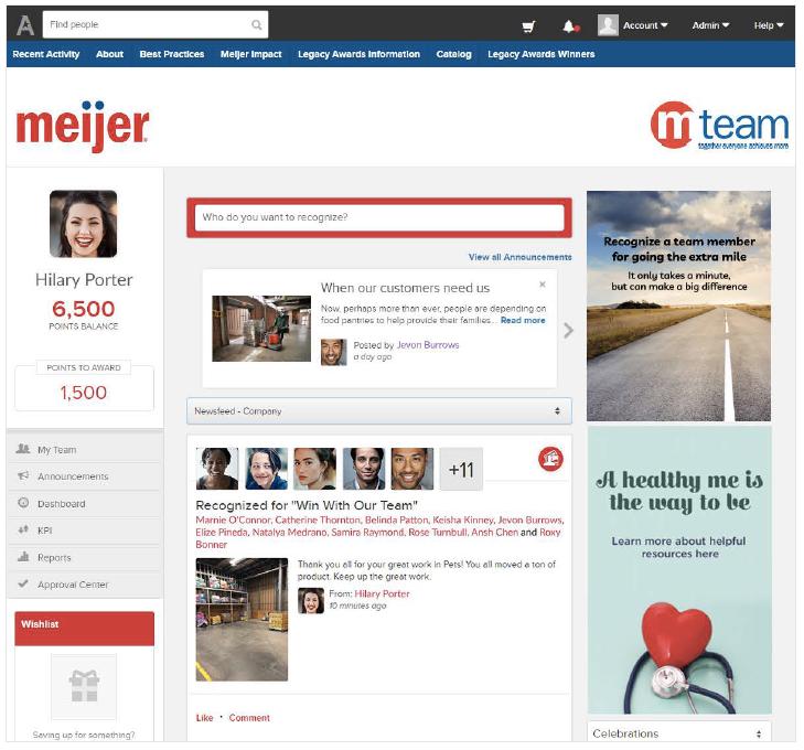 Meijer's mteam recognition program