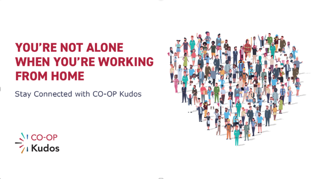 Sample creative from CO-OP's Stay Connected campaign