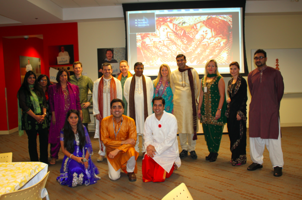 Celebrating DIWALI with my previous Intuit team