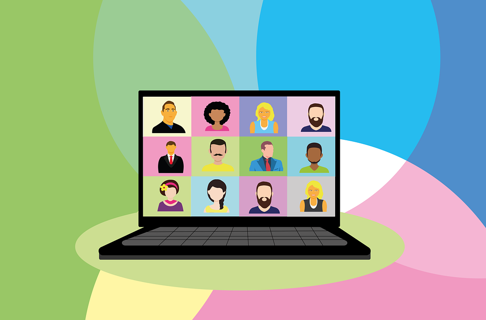 virtual conference remote team