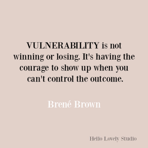 trust and vulnerability Brene Brown