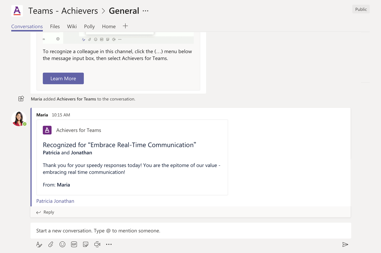 Microsoft Teams + Achievers