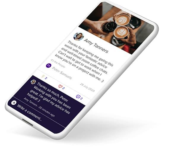 Achievers Recognize Employee Experience Phone App
